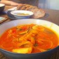 Zucchini, Pepper, and Potato Soup