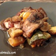 Slow Cooker Balsamic Chicken with Spring Vegetables