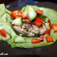 Cilantro Ginger Chicken Burger Lettuce Wraps