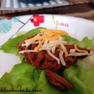 Slow Cooker Shredded Pork Lettuce Wraps