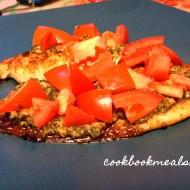 Parmesan Pesto Tilapia with Tomatoes