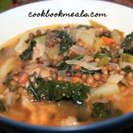 Sausage, Lentil, and Kale Soup