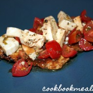 Grilled Balsamic Chicken Topped with Tomatoes & Mozzarella
