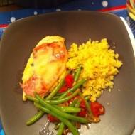 Chicken Saltimbocca & Green Beans w/ Tomatoes & Basil