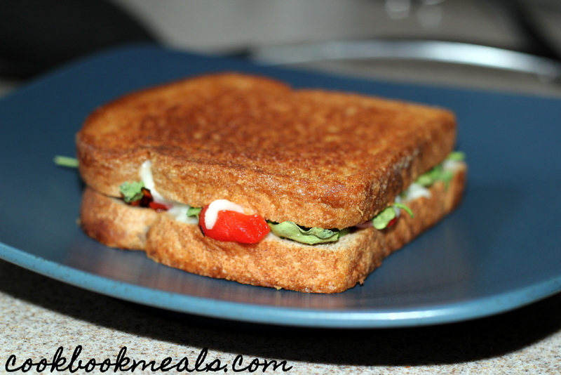 Grilled Cheese with Arugula and Roasted Peppers (11)