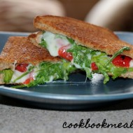 Grilled Cheese with Arugula and Roasted Peppers