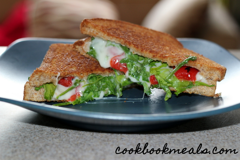 Grilled Cheese with Arugula and Roasted Peppers (13)