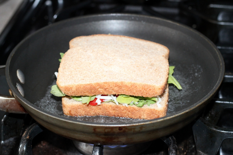 Grilled Cheese with Arugula and Roasted Peppers (8)