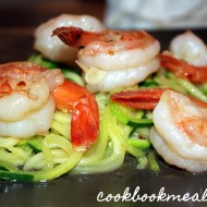 Garlicky Shrimp with Zucchini Noodles