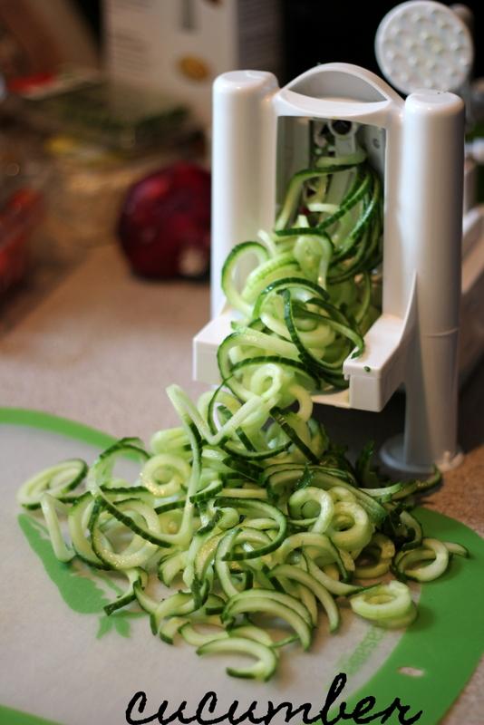 Greek Cucumber Noodle Salad