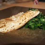 Baked Tilapia with Sauteed Spinach
