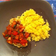 Chicken with Fresh Tomato Sauce & Couscous