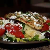 Greek Grilled Chicken Salad Bar