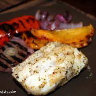 Grilled Cod with Peppers & Onions