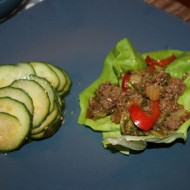 Moo Shu Beef Lettuce Wraps