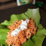 Slow Cooker Buffalo Chicken Lettuce Wraps