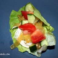 Slow Cooker Greek Chicken Lettuce Wraps