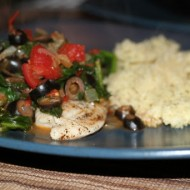 Tilapia with Tomatoes, Olives, & Capers