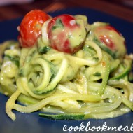 Zucchini Noodles with Creamy Avocado Sauce
