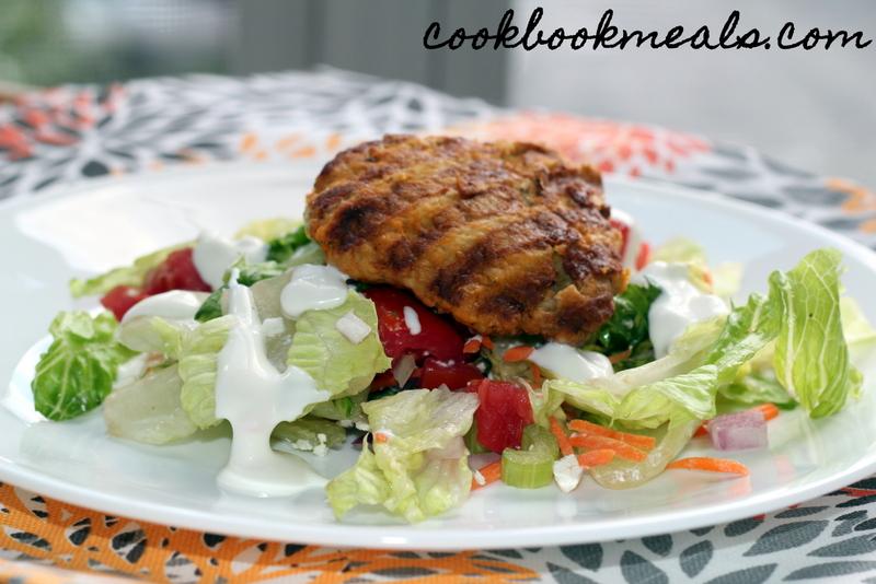 Buffalo Chicken Burger Salad (24)