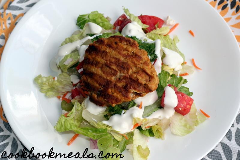 Buffalo Chicken Burger Salad (25)