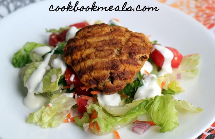 Buffalo Chicken Burger Salad