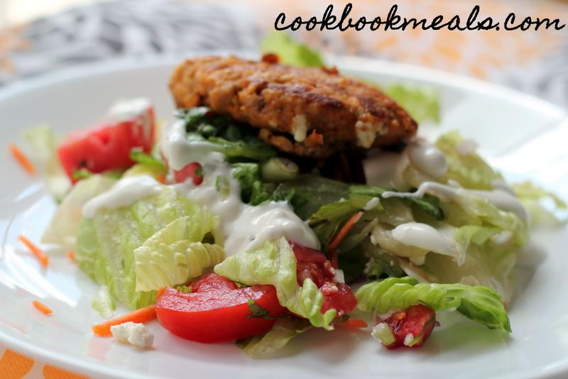 Buffalo Chicken Burger Salad (27)