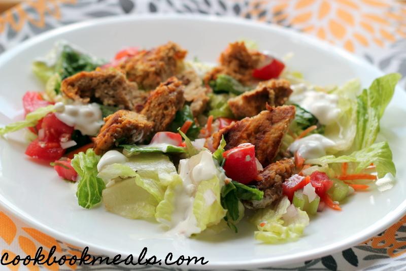 Buffalo Chicken Burger Salad (30)