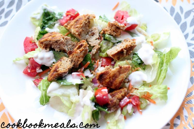 Buffalo Chicken Burger Salad (31)