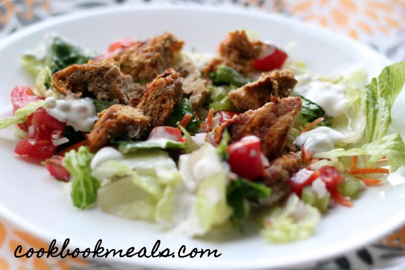 Buffalo Chicken Burger Salad (32)