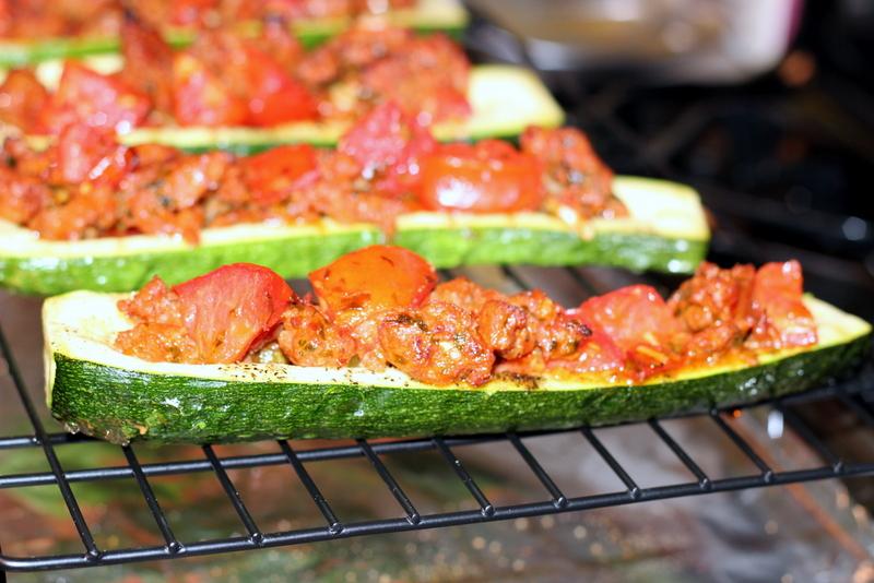 Sausage and Tomato Stuffed Zucchini (22)