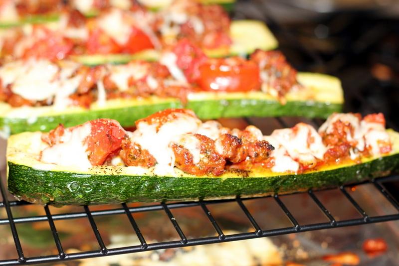 Sausage and Tomato Stuffed Zucchini (25)
