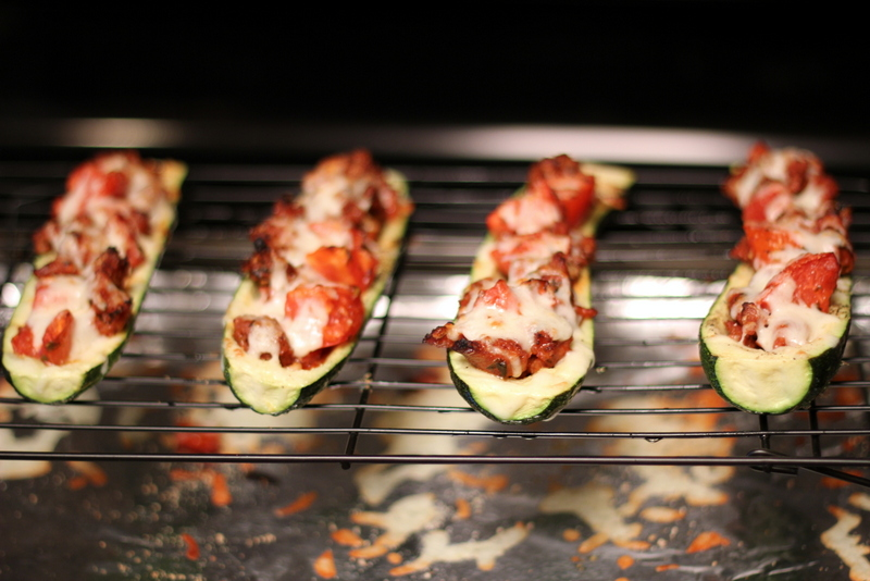 Sausage and Tomato Stuffed Zucchini (26)
