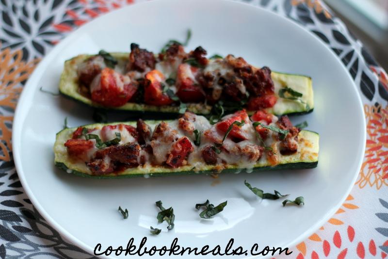 Sausage and Tomato Stuffed Zucchini (31)