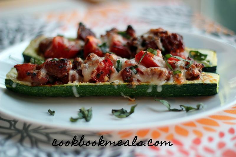 Sausage and Tomato Stuffed Zucchini (32)