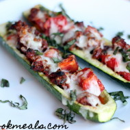 Sausage and Tomato Stuffed Zucchini